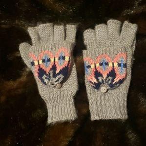 Fun fingerless knit gloves
